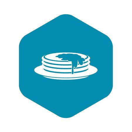 Pancakes icon, simple style