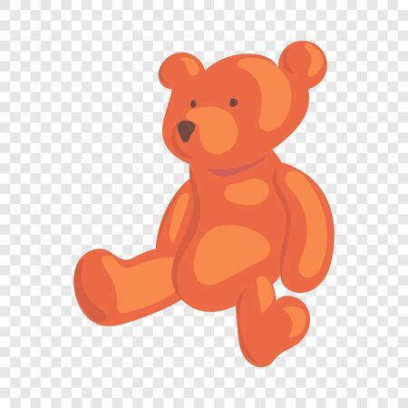Teddy bear icon. Cartoon illustration of teddy bear vector icon for web
