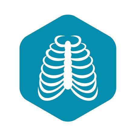 Rib cage icon, simple style 向量圖像