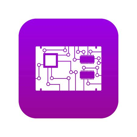 Electronic board icon digital purple for any design isolated on white vector illustration  イラスト・ベクター素材