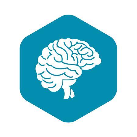 Brain icon, simple style Illustration