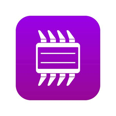 CPU icon digital purple