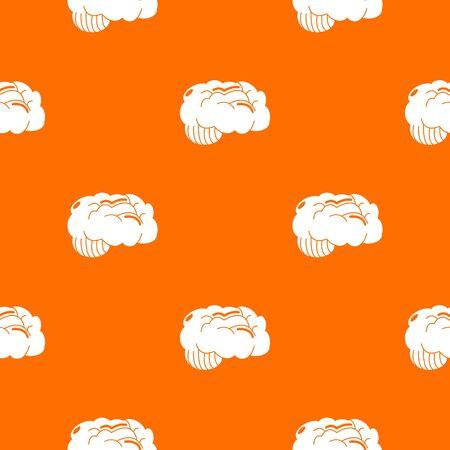 Brain pattern vector orange for any web design best