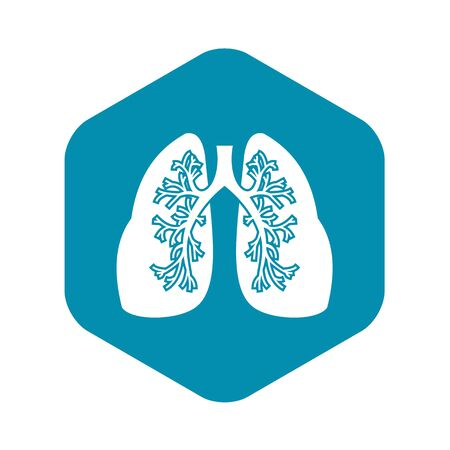 Lungs icon, simple style Illustration