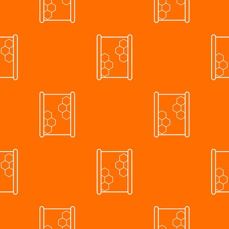 Honeycomb on wood pattern vector orange for any web design best Illustration