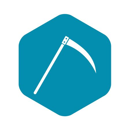 Scythe icon, simple style