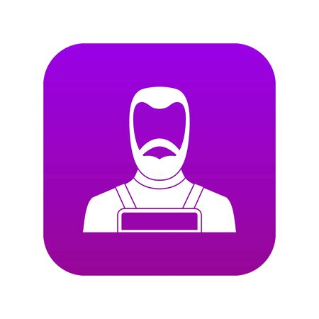 Blacksmith icon digital purple for any design isolated on white vector illustration