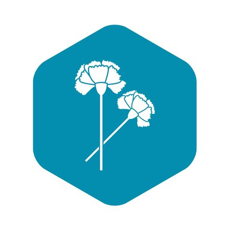Carnation icon, simple style