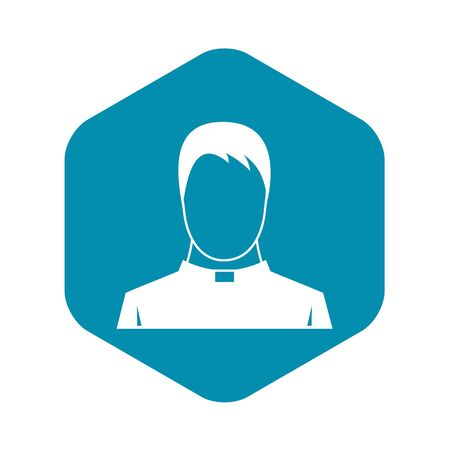Priest icon, simple style