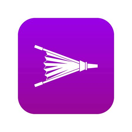 Fire bellows icon digital purple for any design isolated on white vector illustration