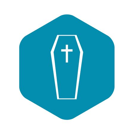 Coffin icon, simple style Ilustrace