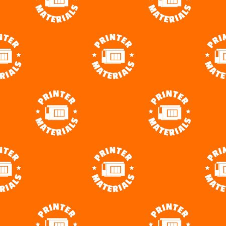 Printer materials pattern vector orange