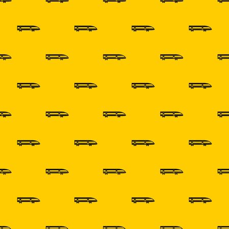 Modern high speed train pattern seamless vector repeat geometric yellow for any design