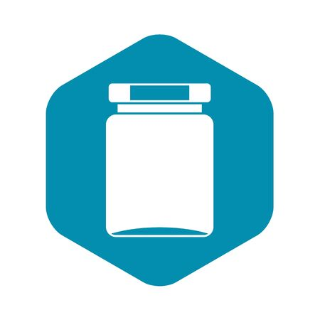 Jar icon, simple style