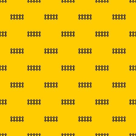 Railway pattern seamless vector repeat geometric yellow for any design