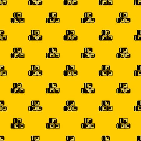 Hay bundles pattern seamless vector repeat geometric yellow for any design Illustration