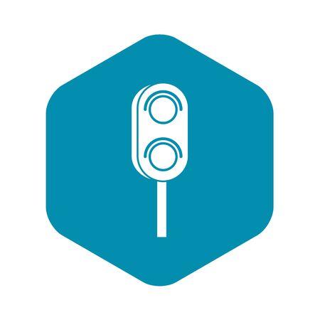 Semaphore trafficlight icon. Simple illustration of semaphore vector icon for web design