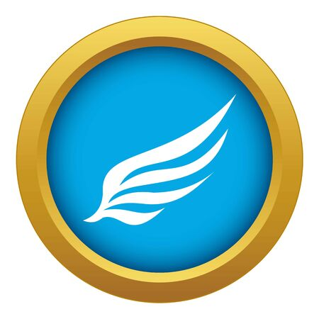 Wing icon blue vector isolated