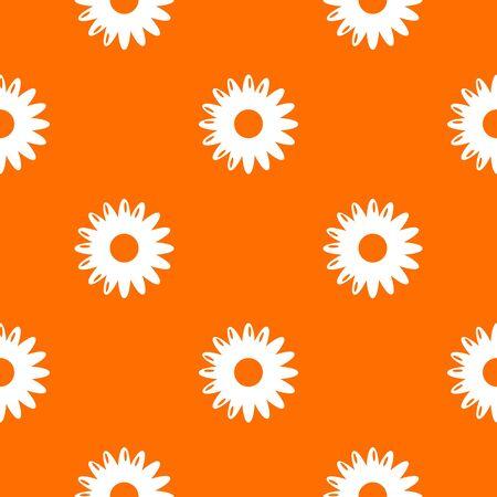 Honey flower pattern vector orange for any web design best Çizim