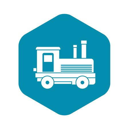 Locomotive icon. Simple illustration of locomotive vector icon for web design
