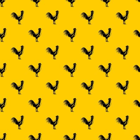 Rooster pattern vector