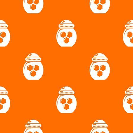 Jar honey pattern vector orange for any web design best Çizim
