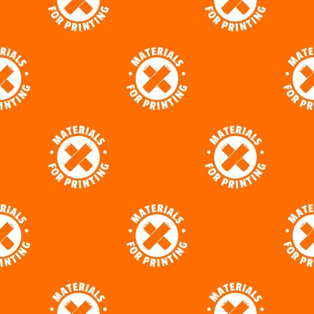 Materials for printing pattern vector orange