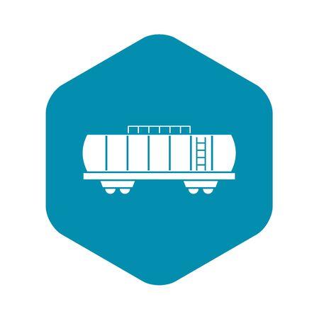 Oil railway tank icon, simple style Ilustração