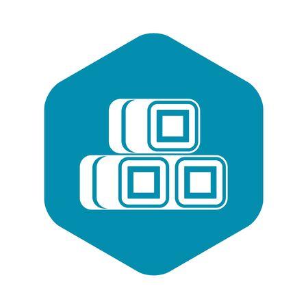 Hay bundles icon. Simple illustration of hay vector icon for web design