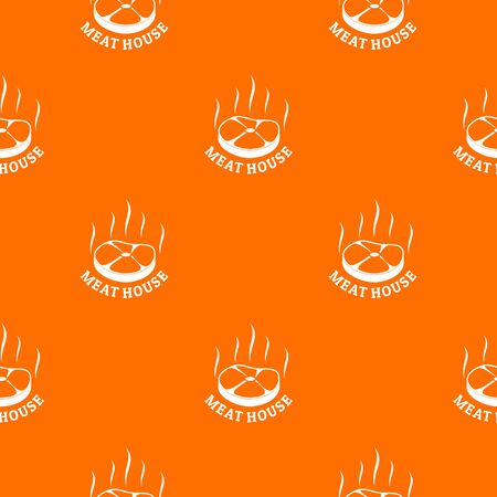 Meat house eco pattern vector orange for any web design best