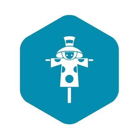 Scarecrow icon. Simple illustration of scarecrow vector icon for web design