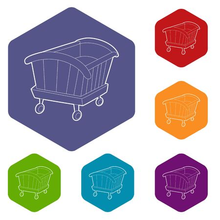 Cradle icon. Isometric 3d illustration of cradle vector icon for web