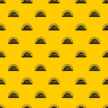 Pizza oven with fire pattern seamless vector repeat geometric yellow for any design