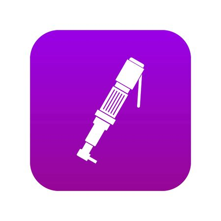 Pneumatic screwdriver icon digital purple for any design isolated on white vector illustration