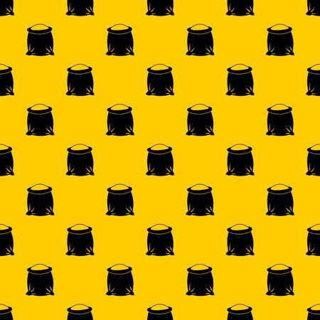 Sack full of flour pattern seamless vector repeat geometric yellow for any design