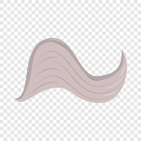 Curved wing icon, cartoon style