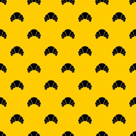 Croissant pattern seamless vector repeat geometric yellow for any design