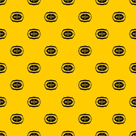 The quality best label pattern seamless vector repeat geometric yellow for any design Stock Illustratie
