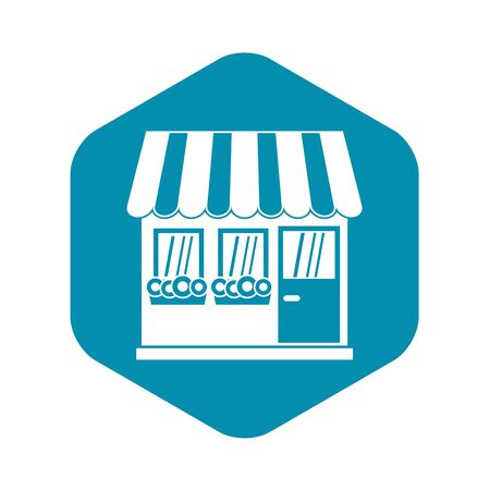 Store icon, simple style