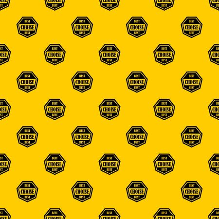Best choise label pattern seamless vector repeat geometric yellow for any design
