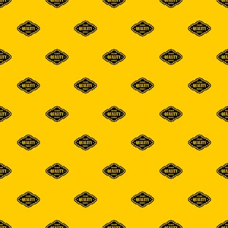 Premium quality product label pattern seamless vector repeat geometric yellow for any design