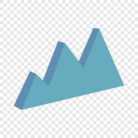 Business chart icon, cartoon style