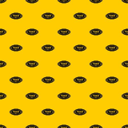 Premium quality label pattern seamless vector repeat geometric yellow for any design