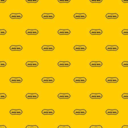Special offer label pattern seamless vector repeat geometric yellow for any design Stock Illustratie