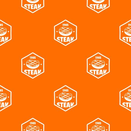 1985 steak pattern vector orange