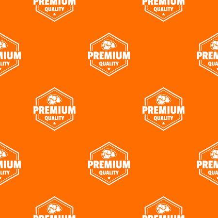 Premium meat quality pattern vector orange