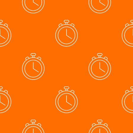 Stopwatch pattern vector orange for any web design best Banque d'images - 130252749