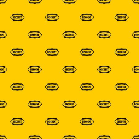 Discount oval label pattern seamless vector repeat geometric yellow for any design