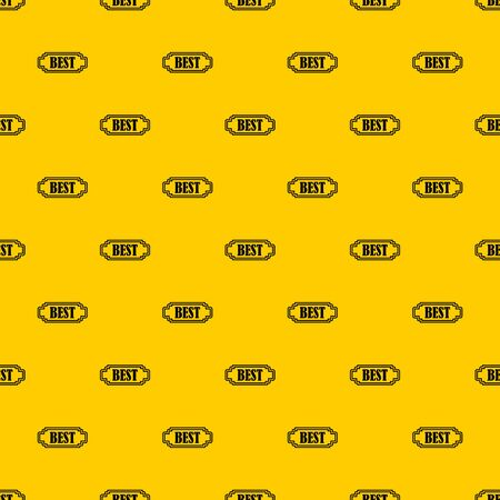 Best rectangle label pattern seamless vector repeat geometric yellow for any design Stock Illustratie