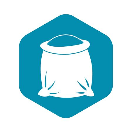 Sack full of flour icon. Simple illustration of sack full of flour vector icon for web Иллюстрация
